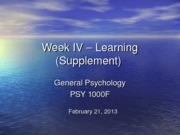 Lecture+IVa+Supplement+-+Operant+Learning+Feb+21+2013