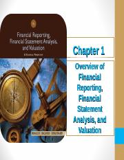 Lecture 1 - Overview of Financial Analysis