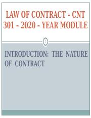 LECTURE - 1 - INTRODUCTION - THE NOTION OF CONTRACT - 2019. ppt (1).ppt