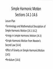 How does gravity affect the simple harmonic motion of a mass