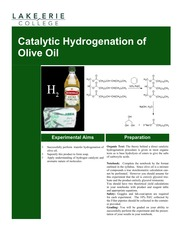 Catalytic Hydrogenation Notes