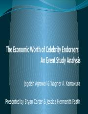 The Economic Worth of Celebrity Endorsers - An Event Study Analysis.pptx