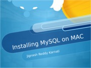 Installing MySQL on MAC