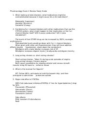 Pharmacology Exam 2 Review Study Guide.docx