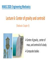 Center of gravity and centroid