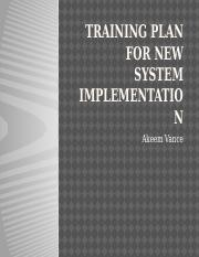 Training Plan For New System Implementation.pptx