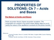 2010-02-17 - The Nature of Acids and Bases