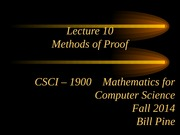 Lecture 10 - Methods of Proof