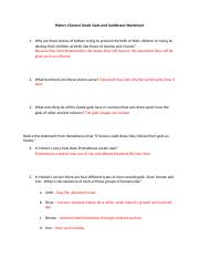 History Channel Greek Gods and Goddesses Worksheet.doc