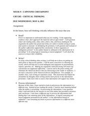 Critical thinking quiz crt 205 week 7