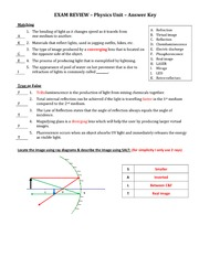 PHYSIC Exam Review - Answer Key