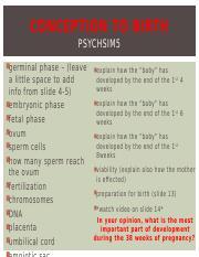Conception to Birth (4) pptx - CONCEPTION TO BIRTH PSYCHSIM5
