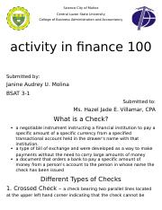 Checks (Finance Project).docx