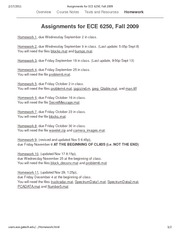 Assignments for ECE 6250, Fall 2009