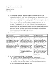 Google China Individual Case Study.docx