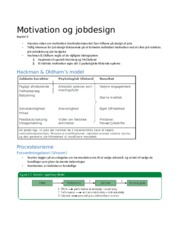 3. Motivation og jobdesign