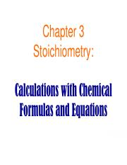 Section 3 Stoichiometry (1)