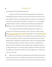 The Shack Reflection Paper Esterina Laca Theology Reflection Paper