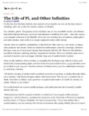 0812-Life of Pi and Other Infinities - NYT 121231