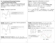 Lecture Notes on Increasing and Decreasing Functions