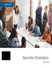 PPT New Hire Orientation