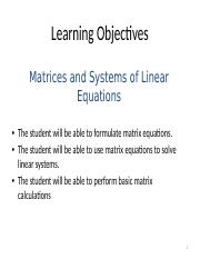 03 - Ch03 - Matrices and Systems of Linear Equations