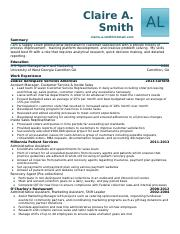 Resume 1 - Claire A. Smith.docx