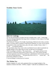 Neolithic Stone Circles