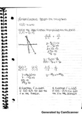 Linear Functions Notes