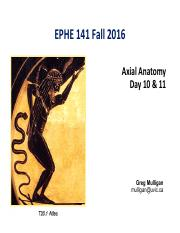 EPHE 141 Day 10  11 - Axial Fall 2016