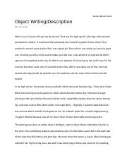 Object Writing.docx