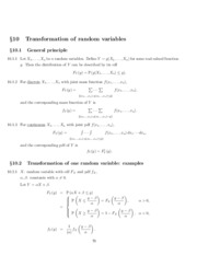 Chapter 10. Transformation of Random Variables