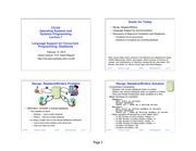 CS 162 Operating Systems and Systems Programming Language Support Lecture Notes