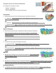 transport across plasma membrane worksheet  wk 1  (1).doc