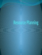 Resource Planning.pptx