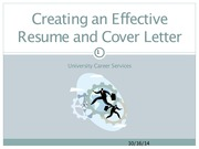 Powerpoint on Resume and cover letters cit 101