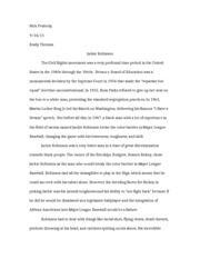 english english u of a page course hero 5 pages jackie robinson essay
