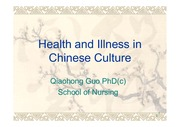 Health and Illness in China
