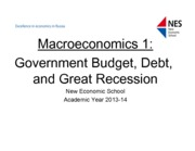 Handout #10-Government deficits, debt, and crisis