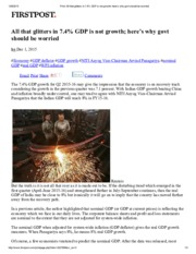 3 - All that glitters in 7 gdp growth