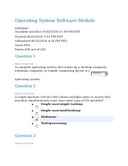 Operating System Software Module Quiz - Completed.docx