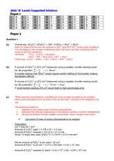 2010 A level H2 Chem Answer key