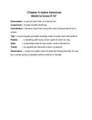 Chapter 5 native American World to know P