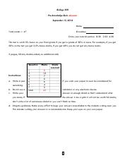 Knowledge pre-test 2014 V7 answers
