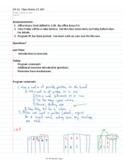 10-31  Class Notes CS 107