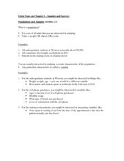 Chapter 1 Class Notes