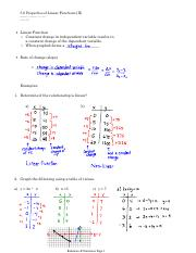 5.6 Properties of Linear Functions