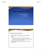 L1 Time Value of Money