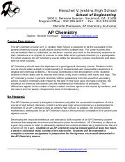 AP Chemistry course description