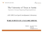 ASE 120K - Wake Surveys of a NACA 0012 Airfoil
